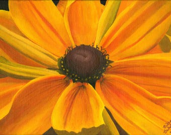 Original Sunflower Acrylic Painting