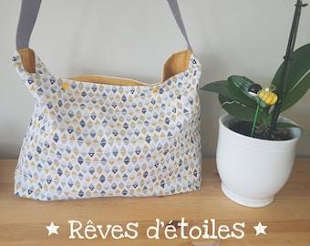 Small diaper bag geometric shapes