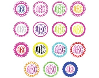 Circle monogram frame svg/Circle monogram SVG,DXF,png,eps for Silhouette,Cricut,Print Design any more