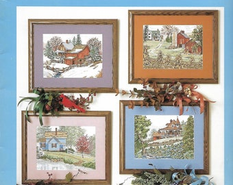 """SOMETHING SPECIAL """"Sloane's Four Seasons"""" - Designs for Cross Stitch or Needlepoint - Winter, Spring, Summer, Fall - VINTAGE"""