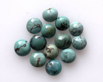 6 MM Natural Round Turquoise Cabochon Gemstone AAA High Quality Gemstones