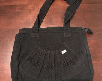 Hand made bag  black two straps** MEXICAN CULTURE**