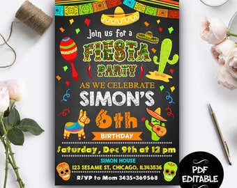 Fiesta Invitation Download, Fiesta Invitation Digital, Fiesta Invitation Template, Fiesta Instant Download, Fiesta PDF Editable, Fiesta Card