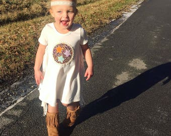 Tennessee clothing- girls tennessee dress- tennessee tristar- fringe tristar dress