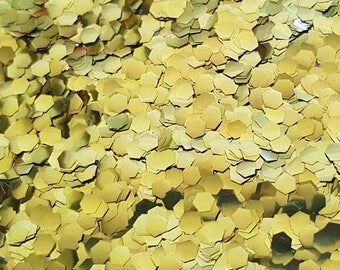 GOLD BIO GLITTER - Mega Chunky -Biodegradable Glitter - Festival Glitter - Eco Friendly - Mermaid Glitter - Cosmetic Grade - 1000 microns