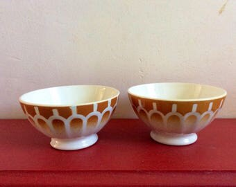 2 bowls vintage french 1970s