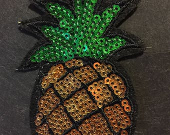 Iron on Patch-Pineapple Patch-Embroidery Patch-Gucci Style Patch-Patches-Pineapple Applique-Pineapple Embroidery Patch-Gucci Inspired Patch