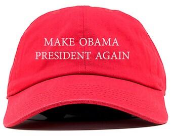 Make Obama President Again Dad Hat Red