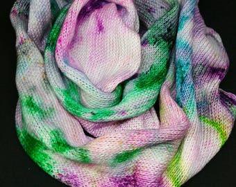 """Hand dyed Blanket """"Kreuzundquer"""""""
