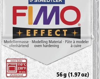 Clay Fimo 57 g white 8020.052 - polymer clay glitter Effect