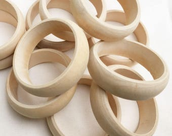 30 customize unfinished wooden bangles bracelets