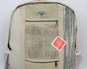 Hemp eco friendly handwoven fair trade backpack