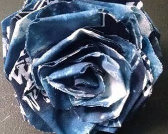Fabric Rose Barrette Dallas Cowboys