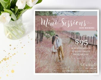 Mini Session Digital Template - Photography Marketing - Photoshop Template