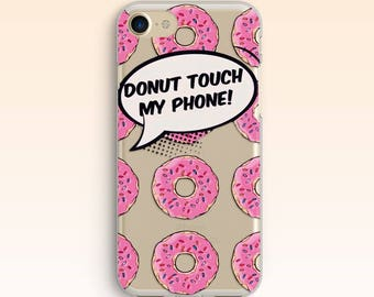 Donuts iPhone X Case iPhone 7 Plus Case iPhone 8 Case iPhone 5s Case Doughnuts iPhone 6s Plus Clear Case For Samsung S8 Plus Case S7 046