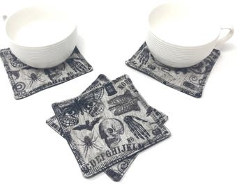 Ouija Fabric Coasters   Coaster Set   New Home Gift   New Job Gift for Her   New Job Office Gift   Cubicle Décor   Dorm Decorations