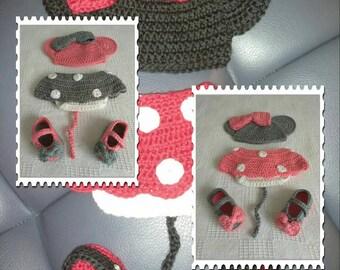 0-3 month Minnie Mouse set