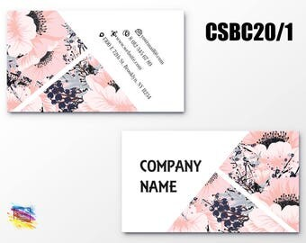 100 Business Cards Cardstock Set 200 Personal Cards Unique Design Full Color Printied Cards CMYK Coated Paper Double Sided Customized CSBC20