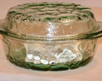 Libbey Orchard Fruit Glass Ovenproof Dutch Oven or Covered Casserole Dish