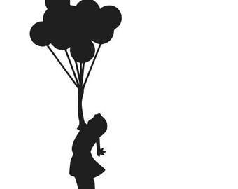 Banksy balloon girl decal