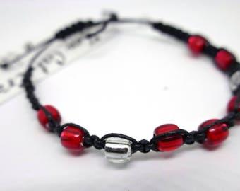 Glass Beaded Shambala  bracelet