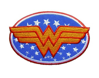 Wonder Woman Applique Embroidered Iron on Patch