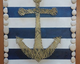 Beach anchor string art