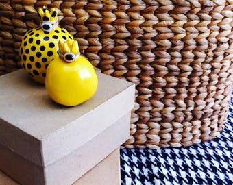 set of ceramic pomegranates / home decor