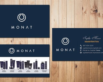 PERSONALIZED Monat Business Card, Custom Monat Business Card, Fast Free Personalization, Custom Monat Hair Care Card MN01