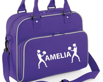 iLeisure Girls Personalised Two Cheerleaders Dance Bag.