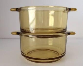 Dynaware Individual Glass Baking Dish | Pyr-O-Rey | Mexico | Vintage