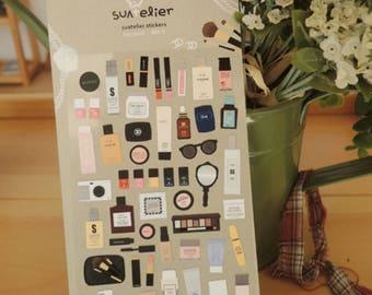 My wishlist makeup kit stickers