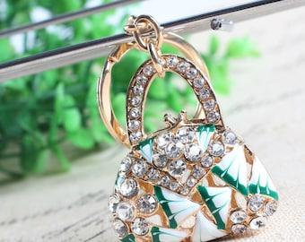 Enamel Rhinestone Key Ring - it's a Purse!