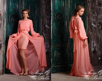 Dress for the bridesmaid. Evening dress, chiffon dress