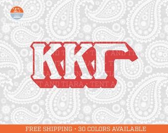 Kappa Kappa Gamma Vinyl Decal, Car Decal, Laptop Decal, Water Bottle Decal, Bumper Sticker, Yeti Decal, Panhellenic Decal, Sorority Decal