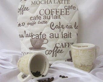 Coffee & Tea cover MOCHA LATTE, Hand Made