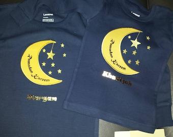 Pajama Decal for Leveret Moon & Star Pajamas