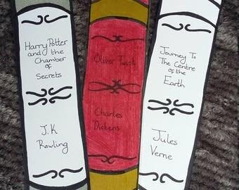 CUSTOM Book Spine Bookmark