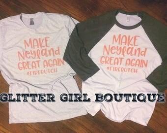 Make Neyland Great Again Raglan Tshirt, TN Vols Shirt, TN Shirts, Tennessee Shirt, Tennessee Raglan, Volunteers Shirt | Tennessee Vols