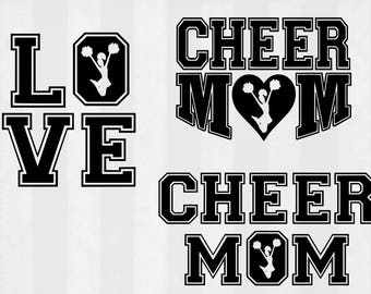 Cheer SVG Bundle, Cheer clipart, Cheer cut files, cheer mom svg, Cheerleading svg files for silhouette, files for cricut, cuttable design