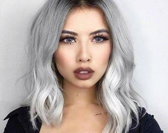 Light Silver Pastel Salon Grade Hair Chalk * 1 Stick * Temporary Hair Color * Wash out Hair Dye