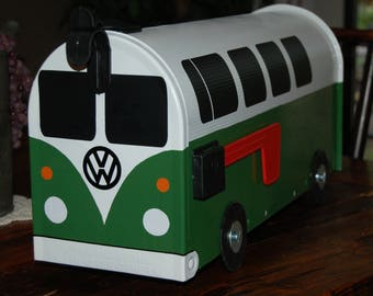 VW Bus 11 Window Mailbox-Green