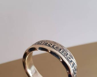 1962 Three Pence coin ring