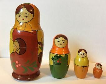 Matryoshka Doll, 4 pieces, 5 inches