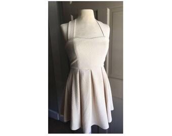 Vintage Inspired Cream Dress Size Medium