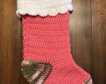Custom Crochet Christmas Stocking