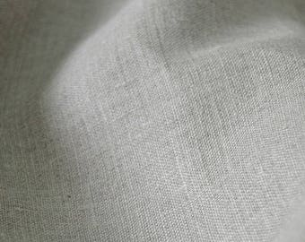Rough linen fabric by the meter, linen fabric by the yard, natural linen upholstery fabric, gray linen fabric, 185 gsm, not washed
