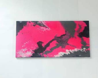 Pink Resin Painting