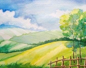 Landscape Watercolour Painting Q169