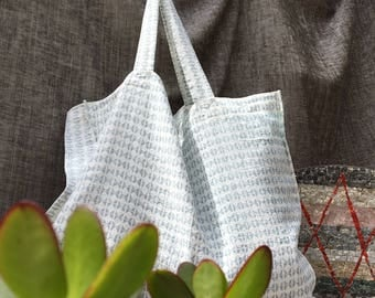 Large tote bag Beach and ride Tote bag in linen